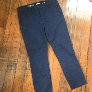 J. Crew Frankie stretch navy blue